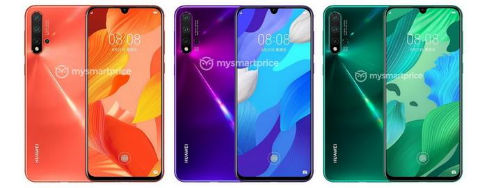 Huawei , Huawei Nova 5 , Huawei Nova 5 Pro , Huawei Nova 5i , smartphone design , press renders