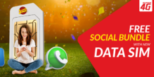 Jazz FREE Social Bundle 4GB With Every New Data SIM