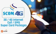 SCOM 3G 4G Internet Call SMS Super Card Packages