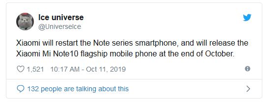 Redmi Xiaomi Mi Note 10