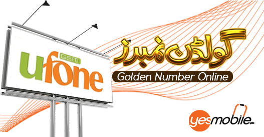 Ufone Golden Numbers for sale yesmobile