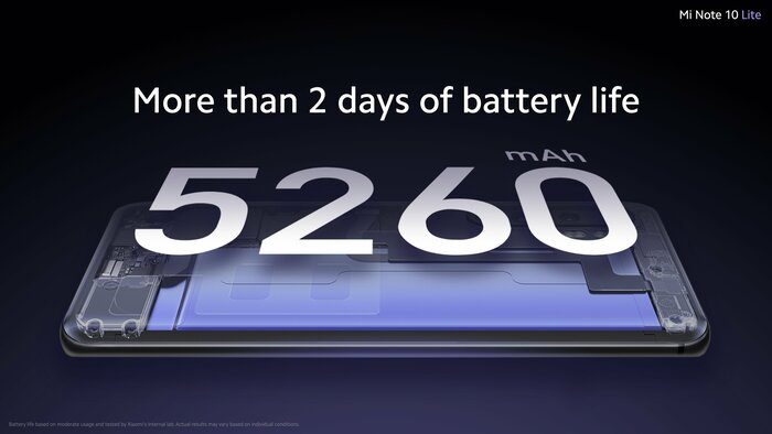 5260 mAh battery with a fast charge of 30 watts