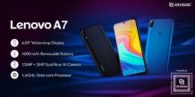Lenovo A7 with Unisoc CPU, 13MP dual cameras and 4,000mAh battery launched