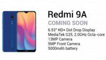 Redmi 9A render & keys specs leak via Xiaomi Philippine's product brochure