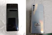 LG VELVET live shots appear to showcase its design in real