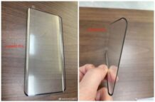 Huawei Mate 40 Pro tempered glass leaks showing a slightly curved waterfall screen