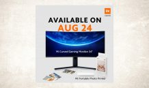 "Xiaomi Mi Curved Gaming Monitor 34"" and Mi Portable Photo Printer launching in Malaysia on August 24"
