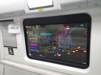 LG Display's transparent OLED displays outfitted on subways in China