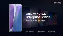 Samsung Galaxy Note 20, Galaxy Tab S7 Enterprise Editions announced