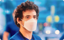 Apple designs and manufactures its own Face Mask for employees