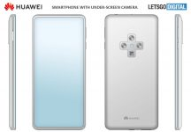 Huawei patents smartphone with in display selfie shooter and periscopic zoom lens