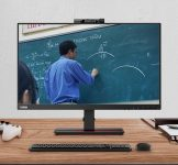 New Lenovo 21.5-inch monitor comes with built-in camera and microphone