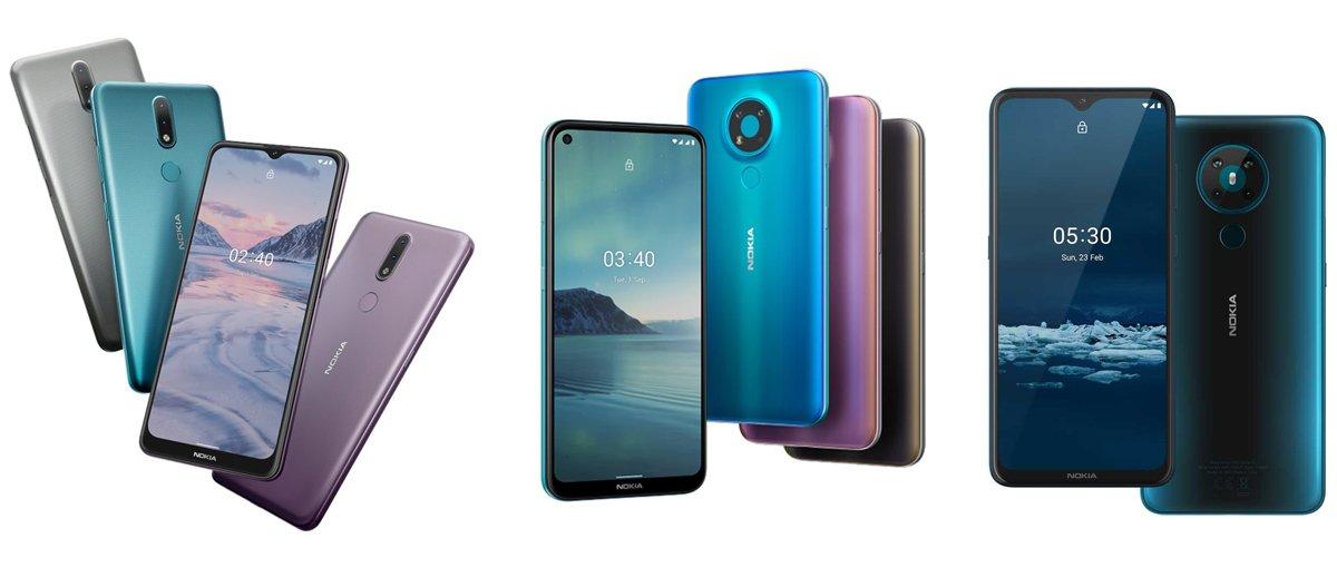 Nokia 2.4 vs Nokia 3.4 vs Nokia 5.3: Specs Comparison