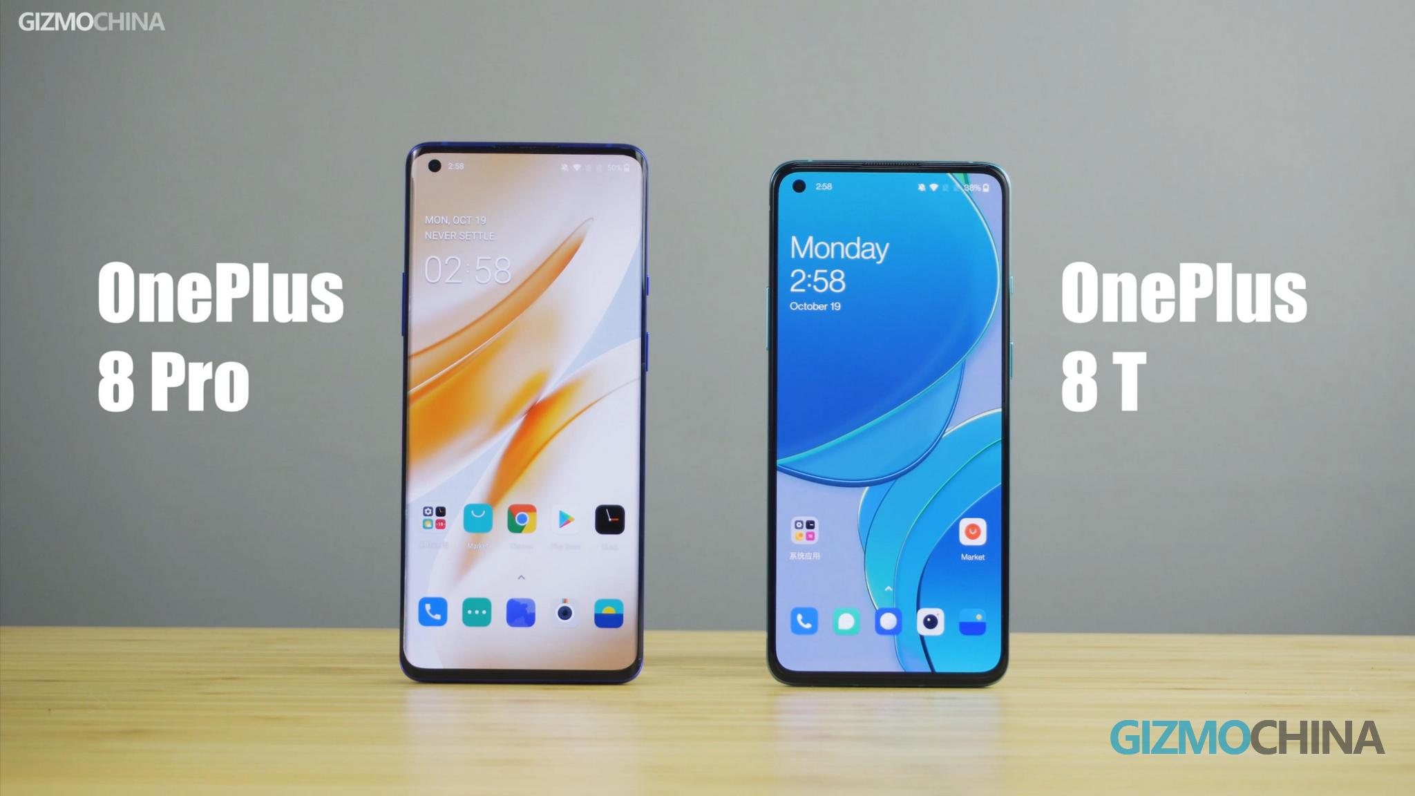 OnePlus 8T vs 8 Pro
