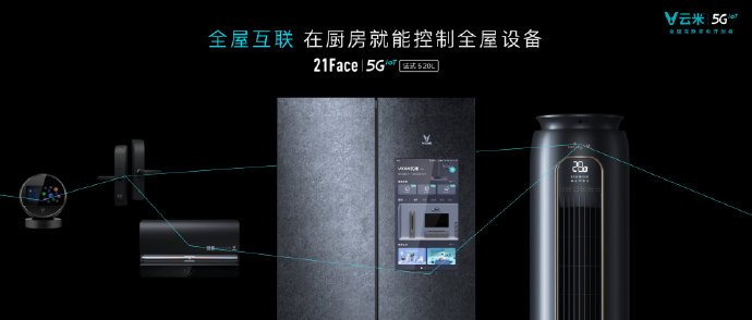 Viomi 21Face 5IoT Refrigerator with an interactive display, Wi-Fi 6 support unveiled