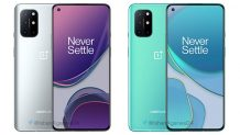 OnePlus 8T render shows smartphone in Lunar Silver and Aquamarine colors