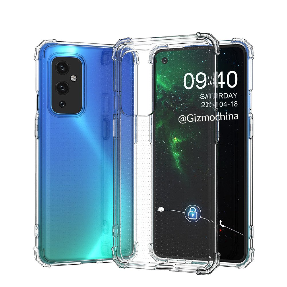 Case renders give us another look at the OnePlus 9 and its flat display