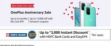[Hot Deal] OnePlus smartphones getting an instant discount of upto Rs 3000 via HDFC cards