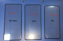 The front glass panels for the Samsung Galaxy S21 models leak