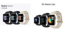 Xiaomi Mi Watch Lite versus Redmi Watch