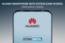 Huawei patents smartphone with under screen camera and bezel display