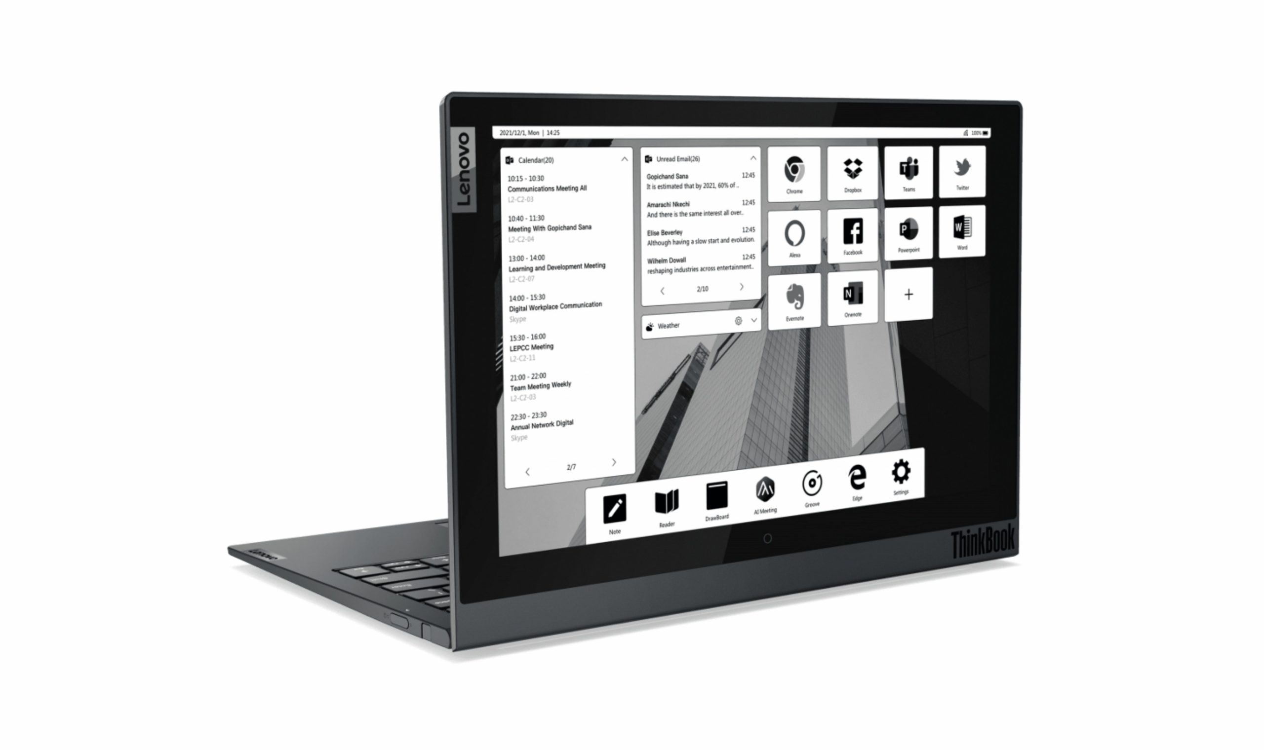 Lenovo ThinkBook Plus Gen 2 announced with a larger e-ink display and 11th Gen Intel Core CPUs