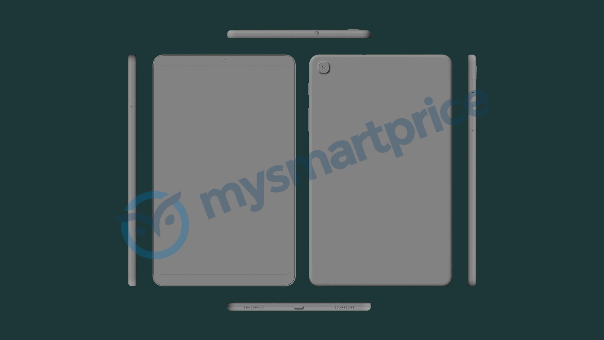 Samsung Galaxy Tab A 8.4″ (2021) leaks in 3D CAD renders