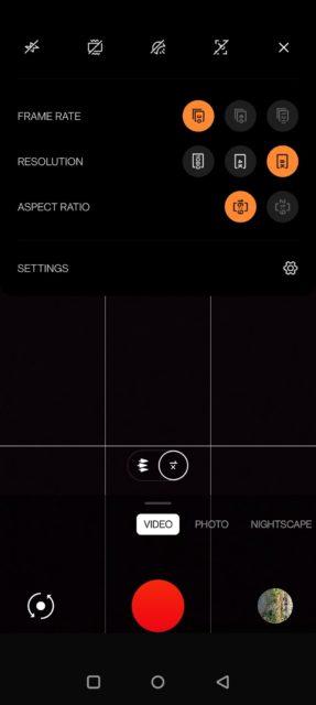 OnePlus 9 Pro camera app screenshot