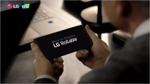 A company spokesman says LG Rollable' development not suspended