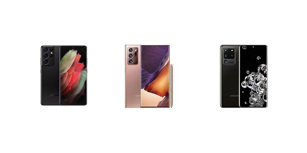 Samsung Galaxy S21 Ultra vs Note 20 Ultra vs S20 Ultra: Specs Comparison