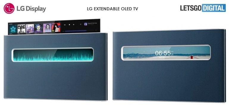 LG extendable OLED TV designextendable OLED TV design