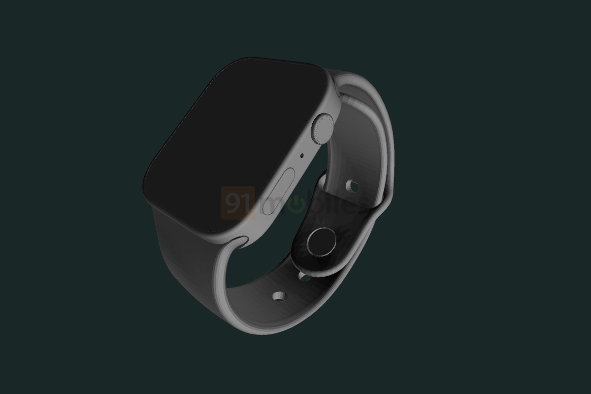 Apple Watch Series 7 CAD renders reveal new flat edged design and larger display